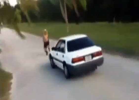 FL man injured after attempting to show skills to football recruiters by jumping moving car