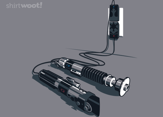 Lightsaber Plugged and Charging T-Shirt