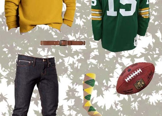 Stylish football fan kit