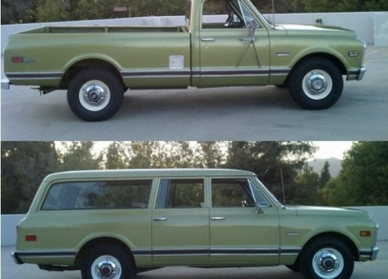 Matched Set: 1971 Chevy Suburban & 1972 Sierra | Moldy Chum
