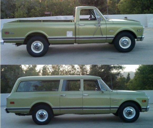 Matched Set: 1971 Chevy Suburban & 1972 Sierra | Moldy Chum