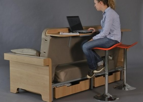 Story adds a workstation to the sofa bed