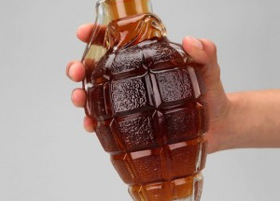 A Liquor Decanter That Looks Like a Grenade