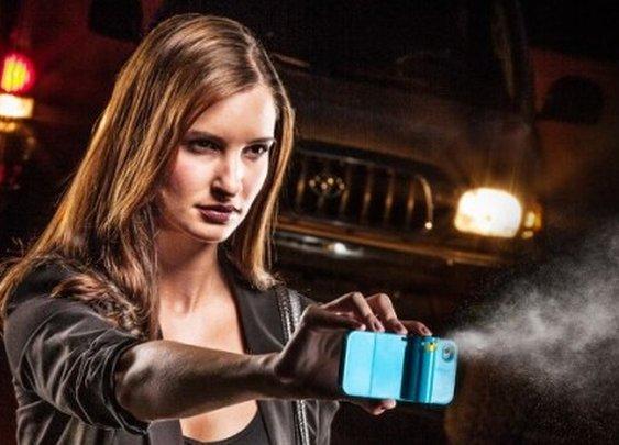 Spraytect smartphone case delivers a shot of pepper spray