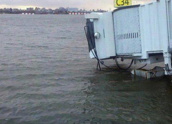 Gate 12 of LaGuardia Airport post Sandy