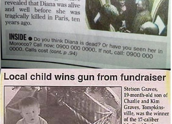 Funny Newspaper Clippings