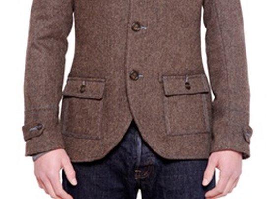 Brown Herringbone Sportcoat - MENK