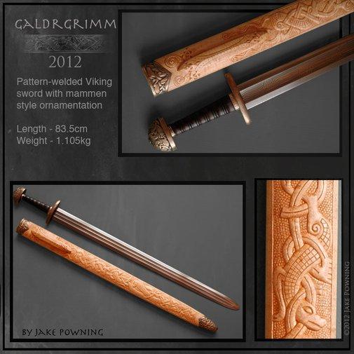 Galdrgrimm - Custom Viking sword by Jake Powning