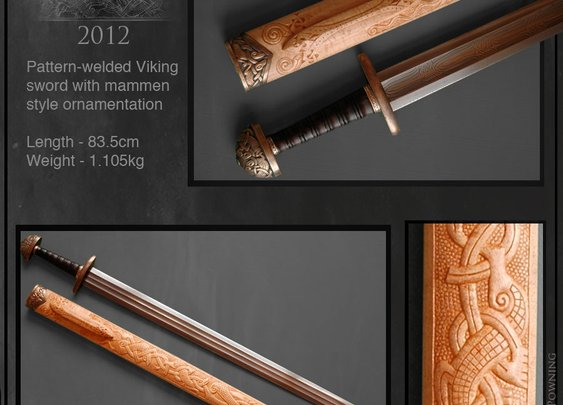 Galdrgrimm - Custom Viking sword by Jake Powning