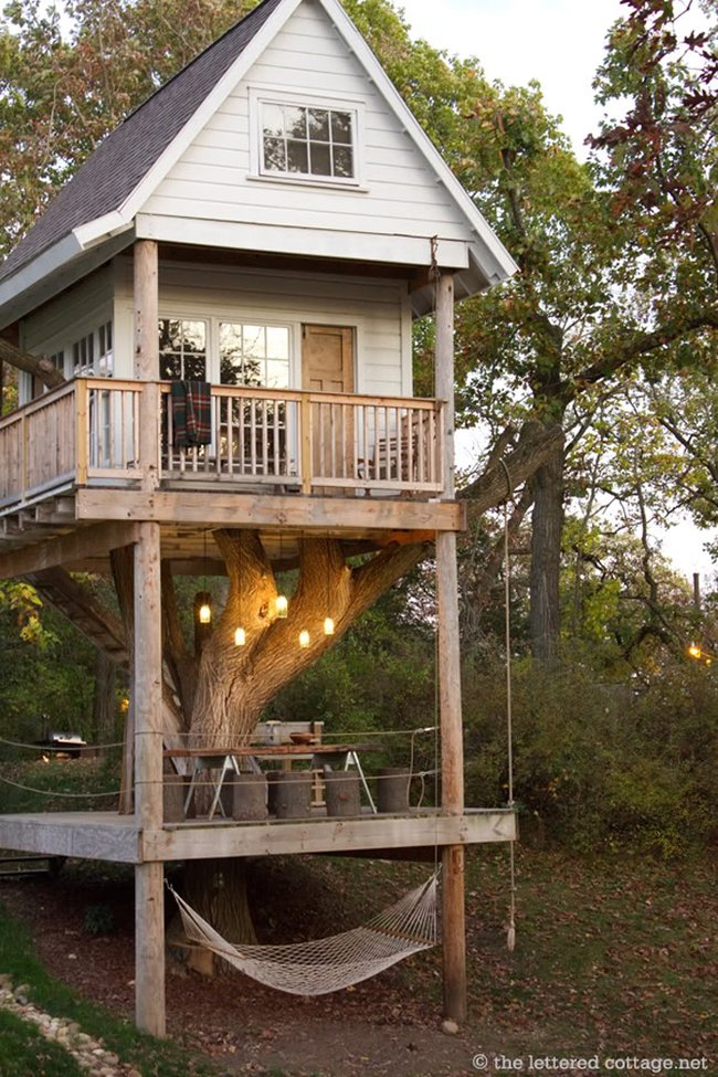 Ultimate Tree House with Hammock, Terrace and Rooms