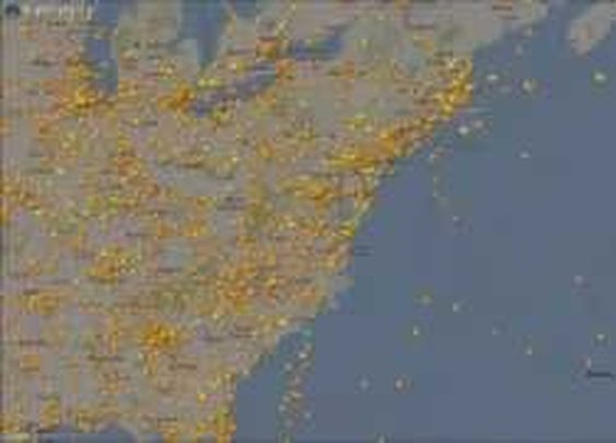 Flightradar24 Time Lapse - after Hurricane Sandy - YouTube