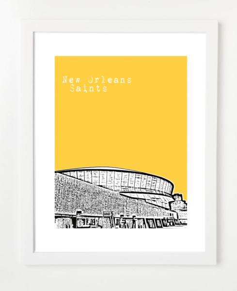 New Orleans Saints Superdome  Poster | BirdAve
