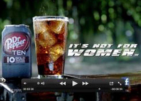 Dr Pepper Ten not for women