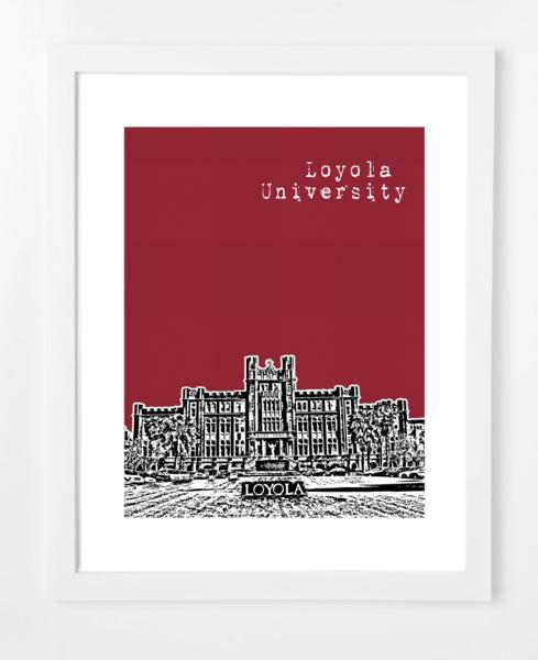 New Orleans Loyola University Poster   BirdAve