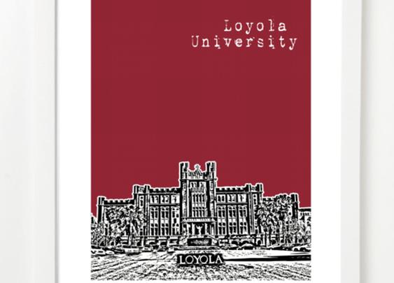 New Orleans Loyola University Poster | BirdAve
