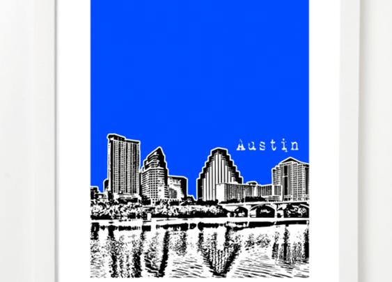 Austin Texas Lady Bird Lake V2 Poster | BirdAve