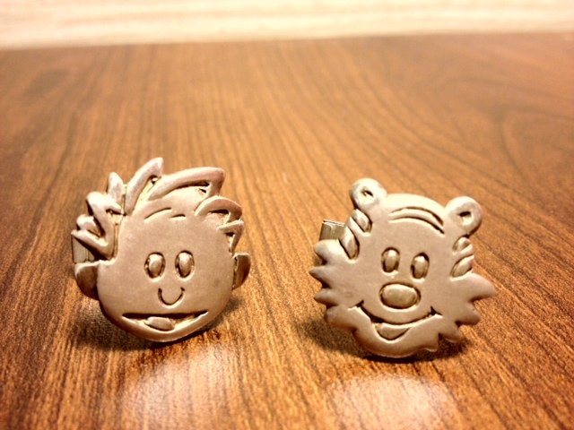 Calvin and Hobbes Cufflinks