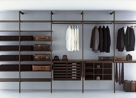 a man's closet