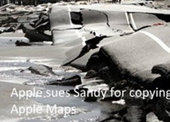 Apple to sue Sandy for Copying Apple Maps