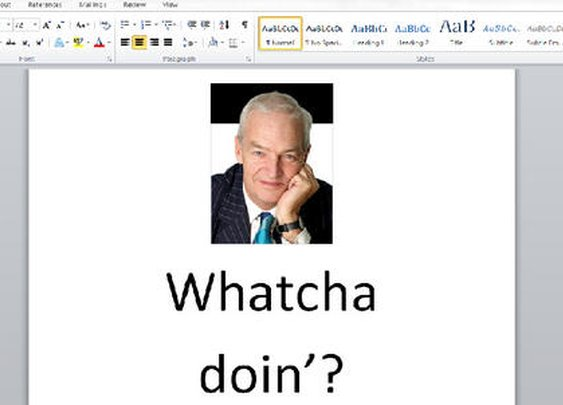 I've just noticed my neighbor has a wireless printer, so I've sent this document to it.