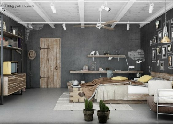 Industrial Bedrooms