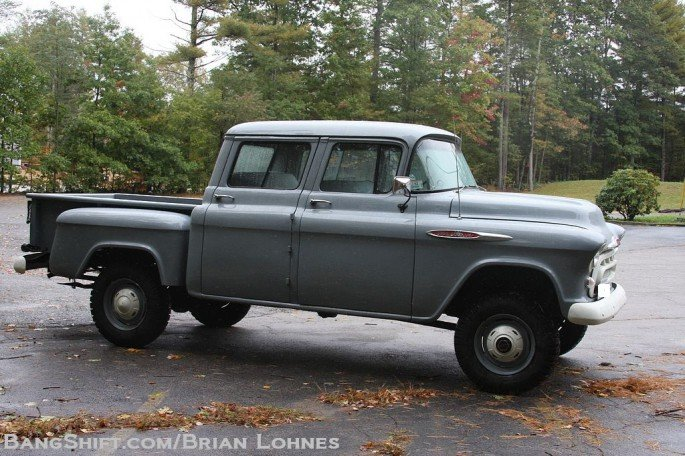 1957 Chevy Factory Orrville Crew Cab Conversion with NAPCO 4WD | BangShift.com