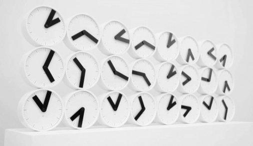 The Clock Clock turns a wall of analog clocks into digital art