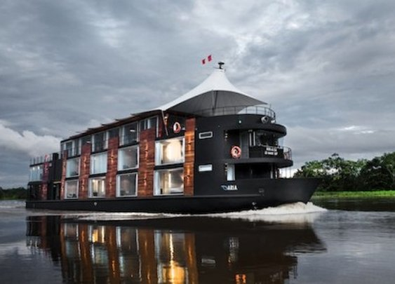 Sail the mighty Amazon River onboard a 147-foot-long floating hotel