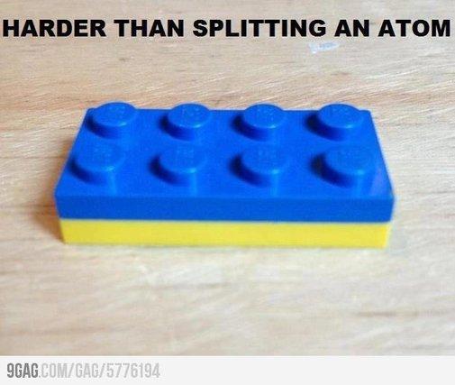Harder than splitting and atom
