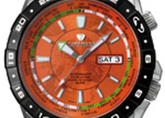 Automatic Travel Men's Orange by J. Springs by Seiko