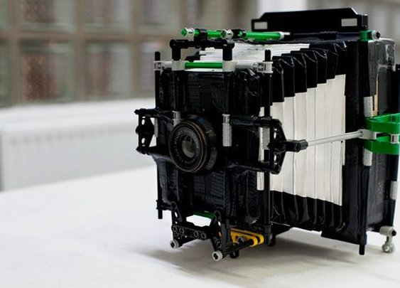 DIY Camera Made Out of Cardboard, LEGO and Duct Tape - Neatorama