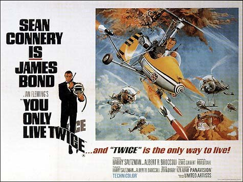 Original promo poster for 1967 Bond Movie, You Only Live Twice - so cheezy but great !