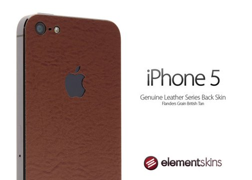 iPhone 5 Leather Series Back Skin Kit in British by ElementSkins