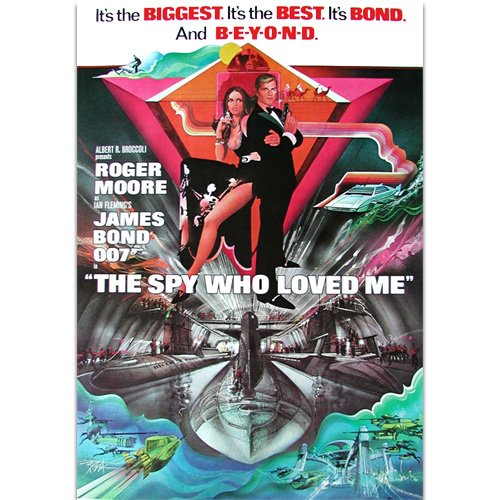 Original promo poster for the best Bond movie ever made - The Spy who loved me !! Hehe