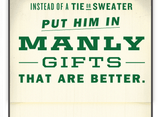The Manimator is a manly list maker of holiday gifts for men - Duluth Trading