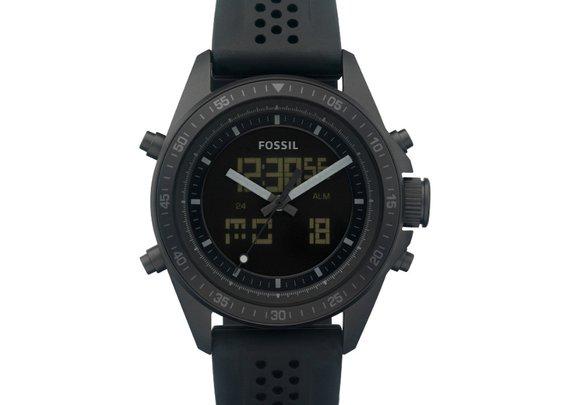 FOSSIL® Watch Styles Sport Watches:Watch Styles Decker Digital Silicone Watch - Black BQ9414