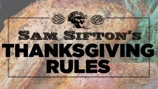 6 Thanksgiving Rules To Live By - Sam Sifton - YouTube