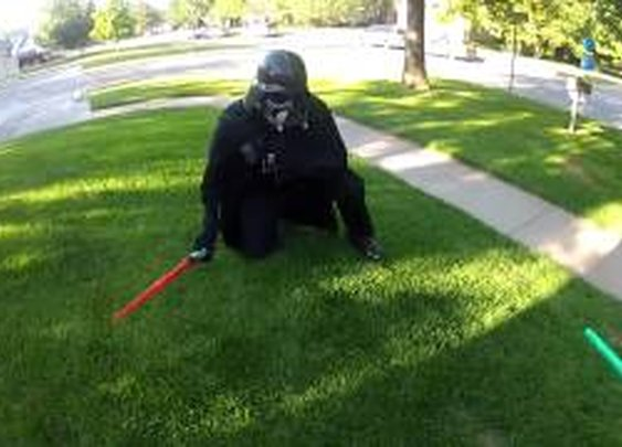 Navy Reservist Dressed As Darth Vader Surprises Son At Home