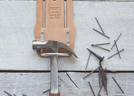 Heritage Leather Hammer + Hatchet Holder | west elm