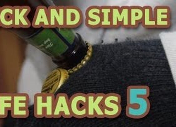 LIFE HACKS -- 6 Ways to Open a Bottle without an opener