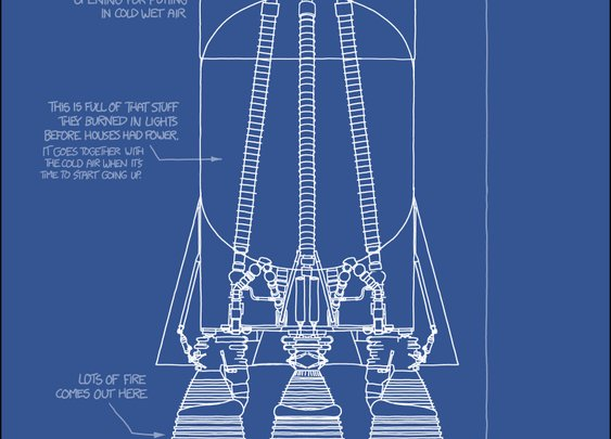 A Saturn V, explained with only words we use every day - xkcd: Up Goer Five