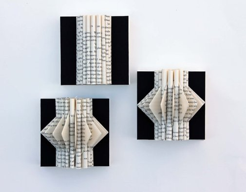 Wall Art Mini Book Sculptures by yinsteadofi on Etsy