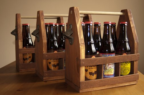 Making a Wedding: Wooden Beer Totes «  The New Hobbyist