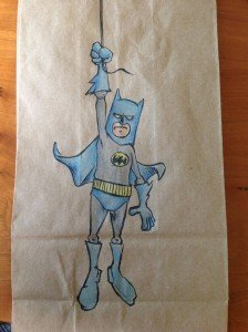 Dad turns his son's lunch bags into works of geek art