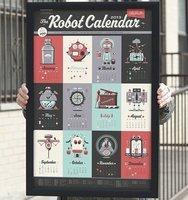 Fancy - 2013 Robot Calendar by 55 Hi's x Justin Mezzell