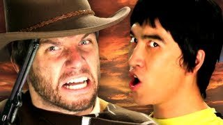 Bruce Lee vs Clint Eastwood.  Epic Rap Battles of History Season 2. - YouTube