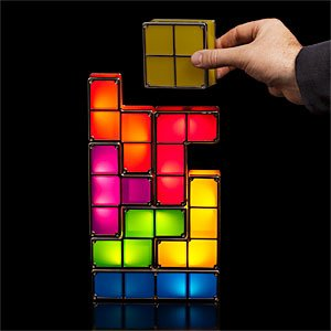 ThinkGeek :: Tetris Stackable LED Desk Lamp