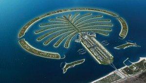 Spectacular island palm Jumeirah in Dubai