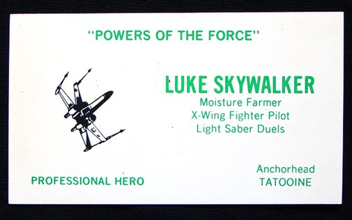 Even 'Star Wars' Characters Need Business Cards (5 pics)