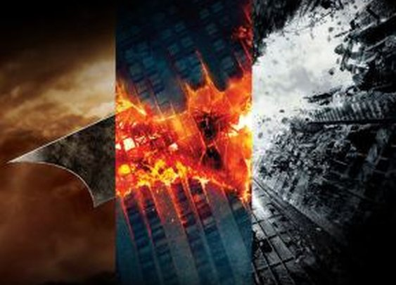 """Batman: """"Begins, Falls, Rises"""" Triptych Poster"""